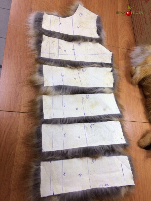 Пошив детских шубок из лисы. Мастер-класс №0732