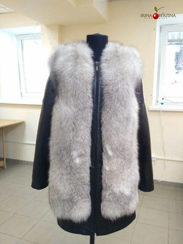 Пошив куртки-жилета из песца. Мастер-класс №0539