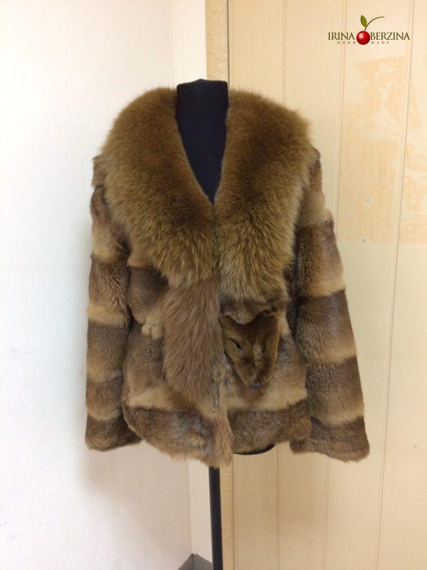 Куртка меховая — устранение залысин. Мастер-класс №0891