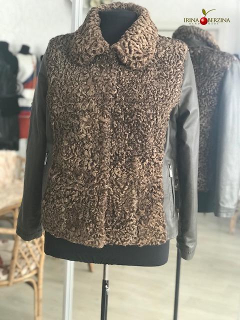 Куртка с коричневым каракулем. Мастер-класс №0904