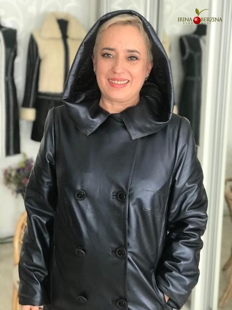 Пошив пальто из кожи типа тренчкот. Мастер-класс №0846