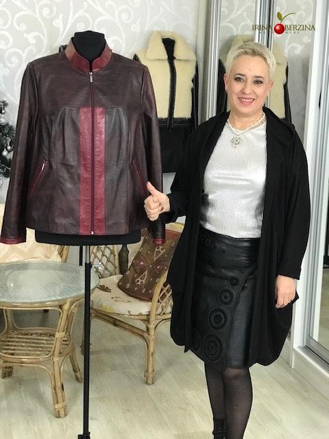 Куртка — перешив бордового изделия. Мастер-класс №0923
