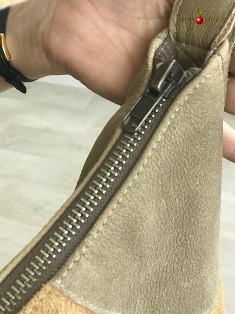 Кожаная Сумка формы «Италия», сшитая из куртки. Мастер-класс №1128