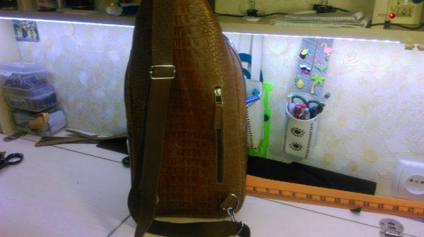 Рюкзак-рыжий крокодил -«САФАРИ».  Мастер-класс №0017